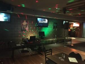 Lone Pine Karaoke stage